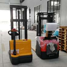 Electric stacker truck pallet lift stacker capacity 1000/1500/2000kg full electric forklift in warehouse