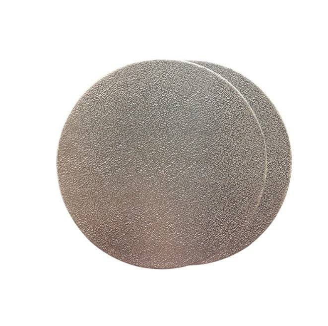 High quality 3 to 16 inch round strong cake card 2mm thick base silver paper cake board