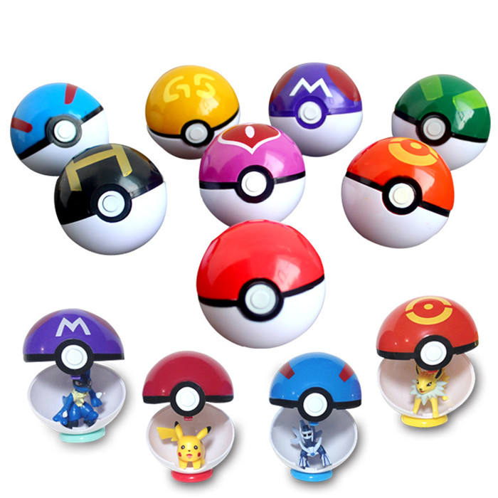 China manufacture pokemon ball figure toys for kids plastic pokeball