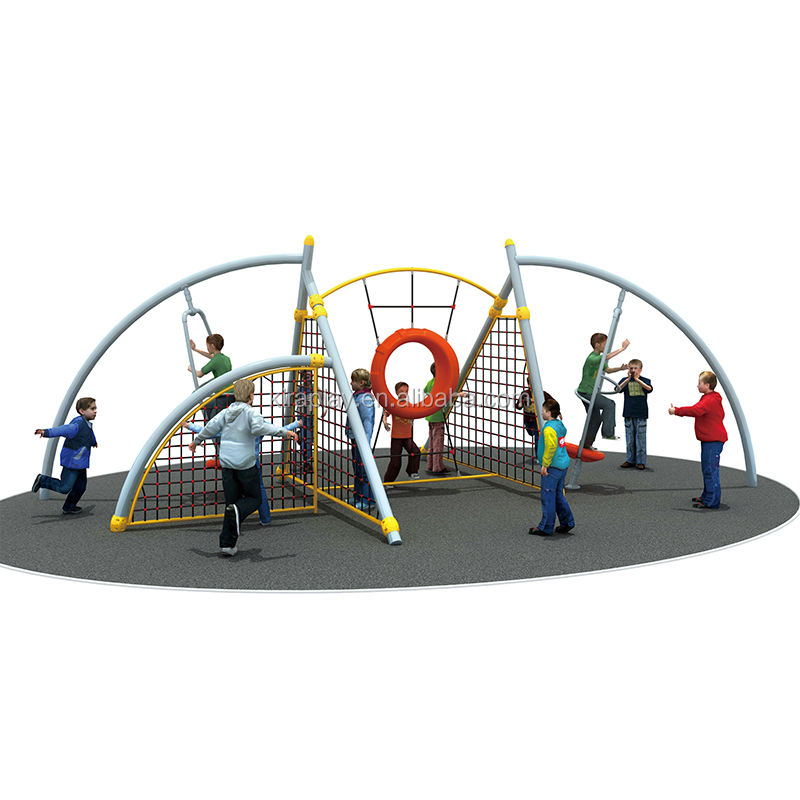 Custom children outdoor natural rope net playground components equipment for kids indoor knitted net climbing playground