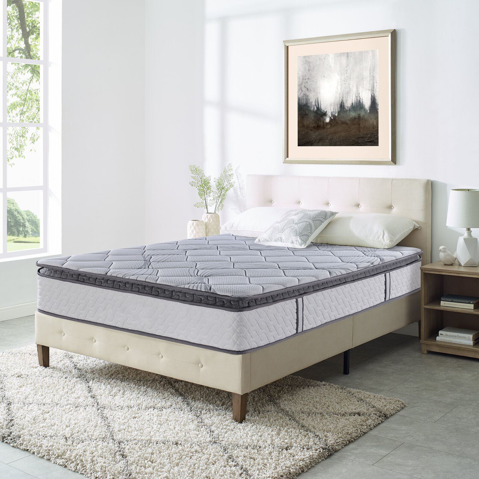 AIDI Customized Size 11.4 Inch Cheap Natural Latex Hybrid Bed Mattress Price Patja Moenga Matres Matress