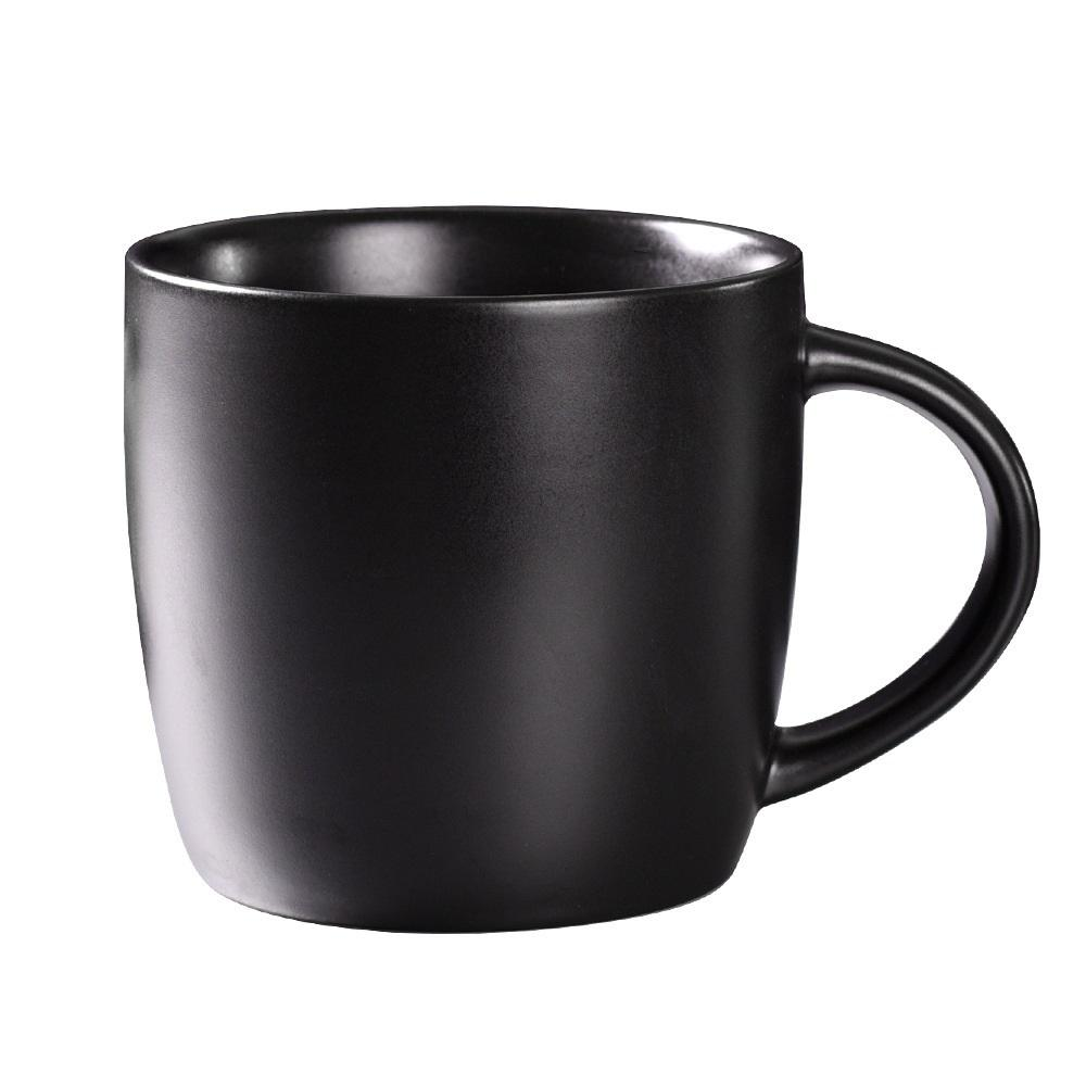 Factory Wholesale Gifts Stores Black Color Breakfast Tea Water Ceramic Office Cup Mug