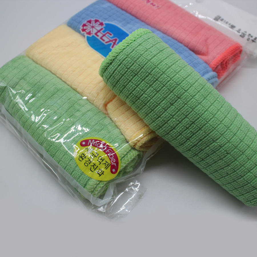 Korea Microfiber Power Force Pembersih Dapur Reusable Handuk 30X40 Limpieza