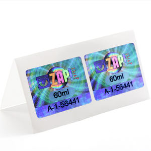Self adhesive custom stickers holographic label hologram sticker