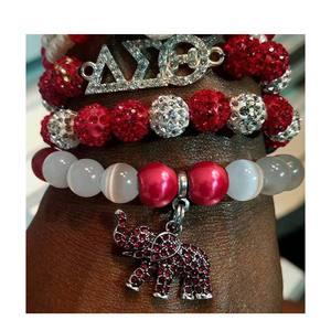 Elephant For DST AEO DIY charm stretch Delta Sigma Theta Sorority Fraternity multilayer bracelet Jewelry accessories