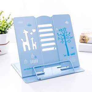 High quality reading shelf protect eyesight heavy duty metal book stand