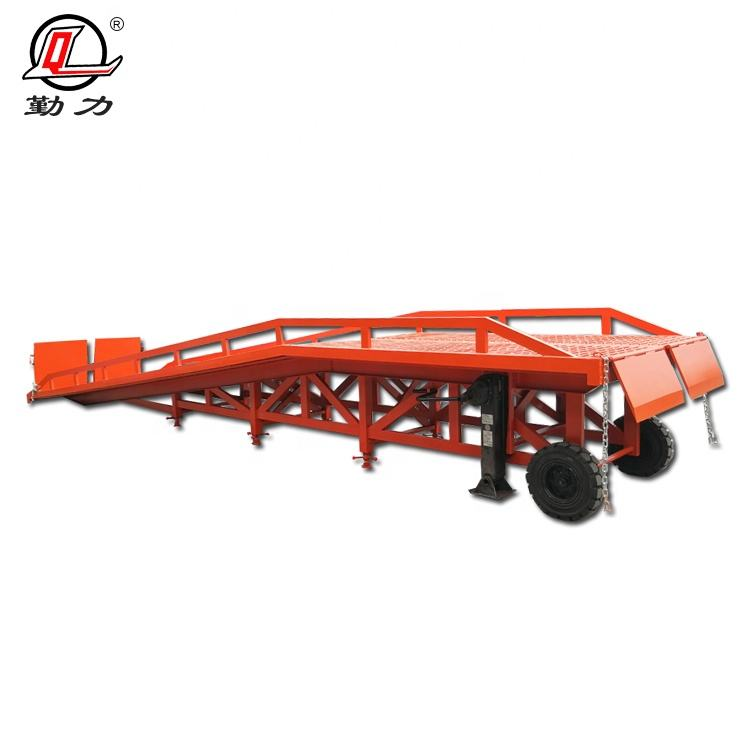 12000kg factory wholesale price electric hydraulic truck unloading loading ramps