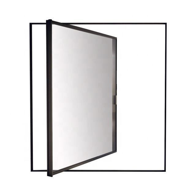 latest design Aluminum insulating glass front entrance pivot door