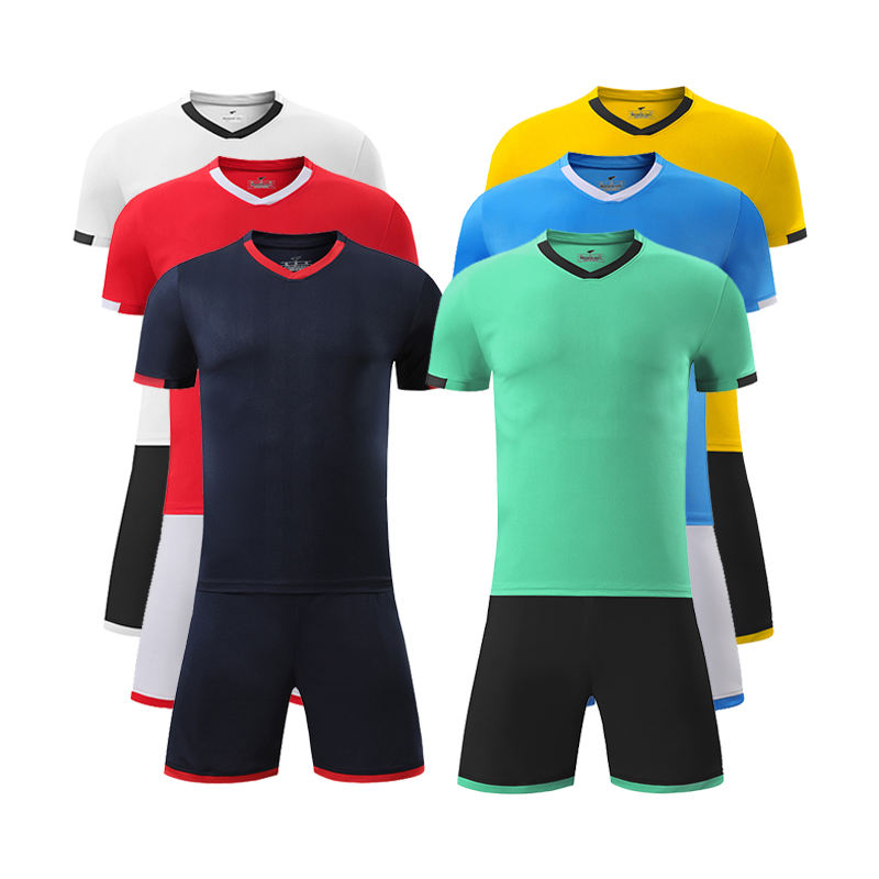 Wholesale Logo Customized 100% Polyester Soccer Tracksuit Football Jerseys For Adult