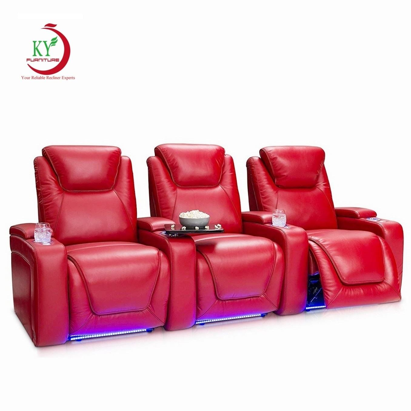 JKY Furniture Movie Power Electric TV Cinema Theater Seating Home Theatre Recliner Chair For Living Room
