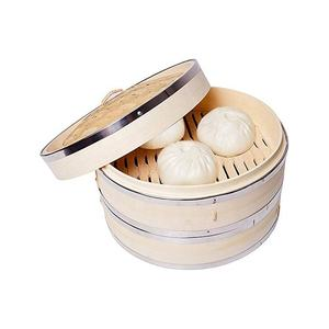 High Quality Factory Price Eco-Friendly Mini Food Bamboo Steamer 10Cm To 40Cm