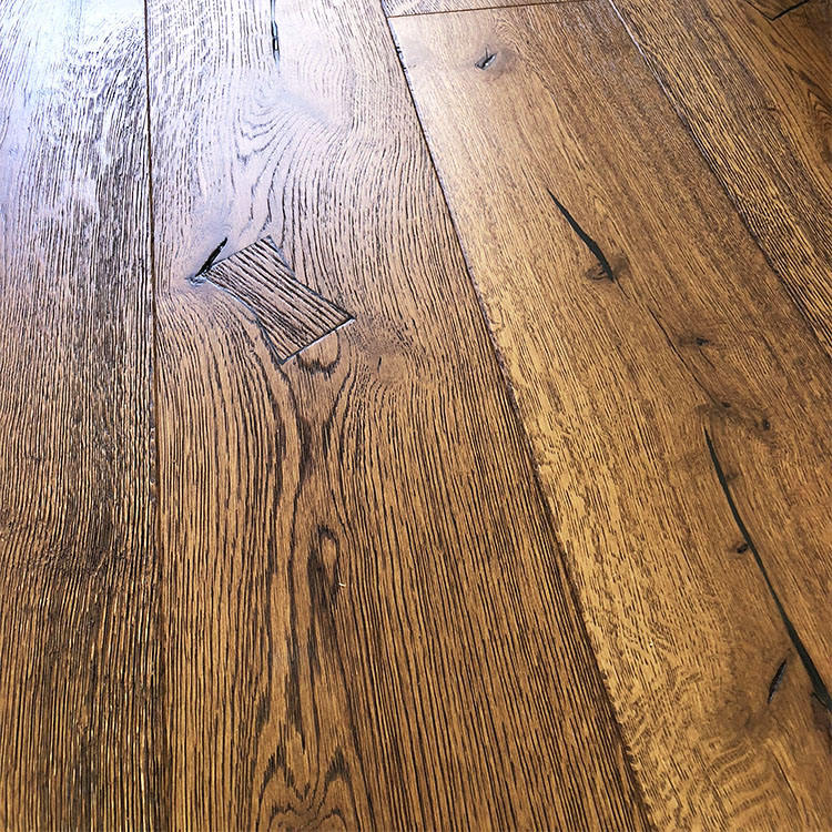 Best selling wide plank European oak 3 layer rustic style parkett engineered wood flooring for indoor