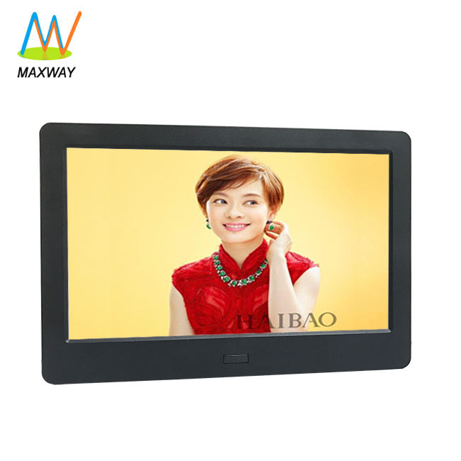 7 Inch OEM Small Size Mini LCD Digital Photoframe Electric Photo Picture Frame With Video Loop