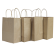 Recyclable high grade accept custom logo printed paper bag, brown kraft paper bags with handles
