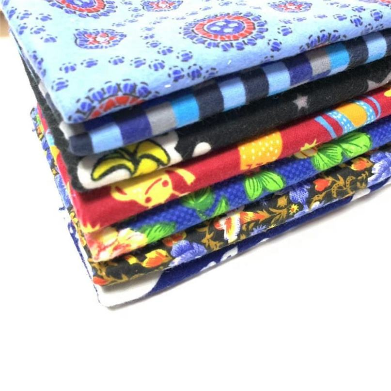 100% printed cotton brushed fleece blanket flannel fabric Home Textile 100 cotton print woven nightgown/shirt/bed sheet flannel