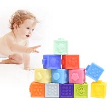 Kidewan Eco Friendly Soft Squeeze Stacking Building Blocks Sensory Educational Infant Toddler Baby Bath Toy for Kids