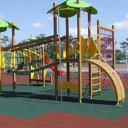 safety and comfortable Playground Rubber Tiles