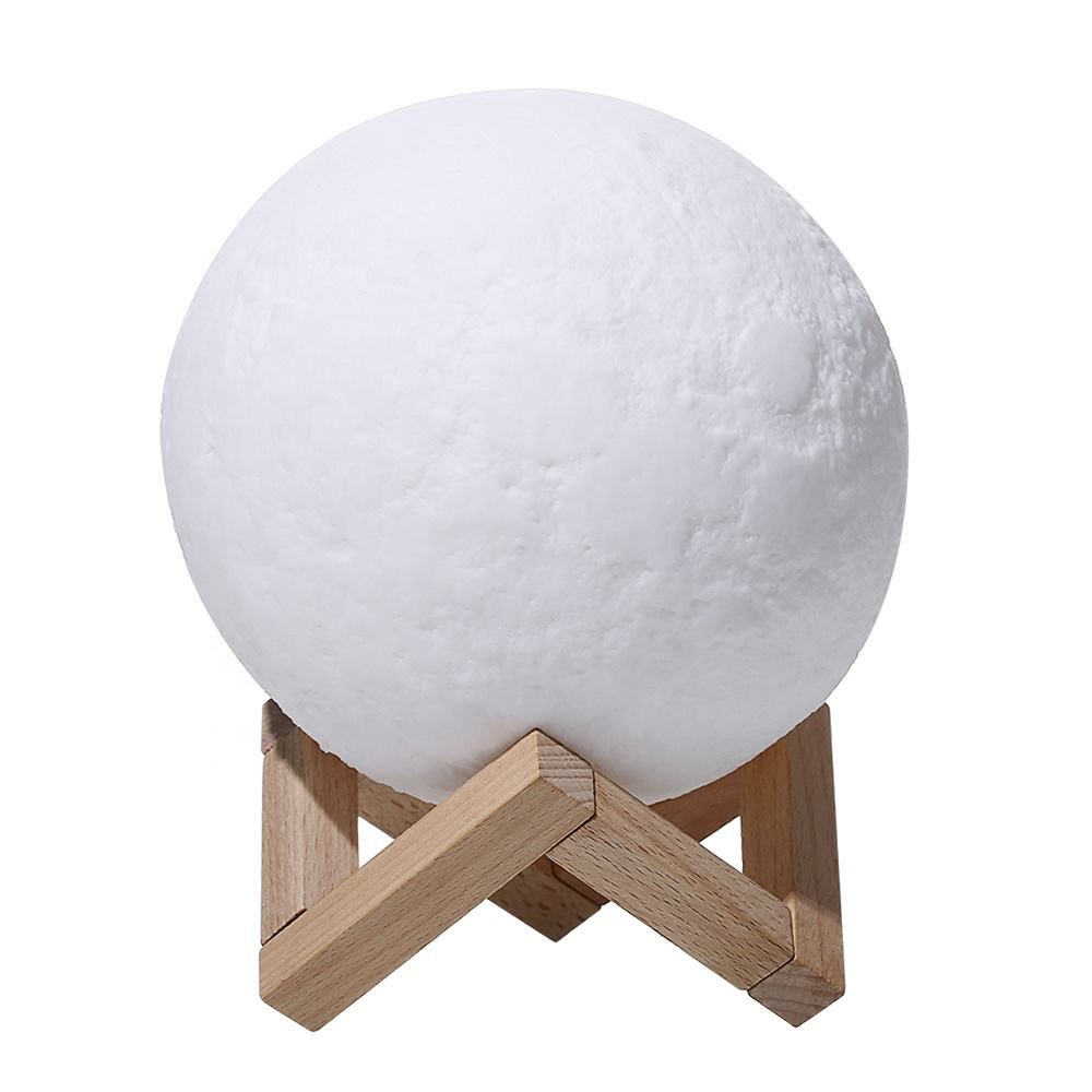 Popular 3D Lunar Night Light Table Moon Lamp Rechargeable Lighting Decoration with Remote