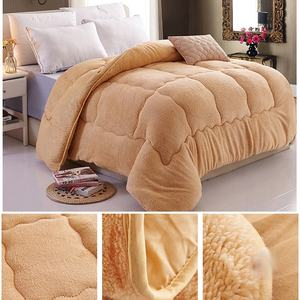 High Quality King Size Luxury For Bed Soft Flannel Sherpa Thick Blanket For Winter