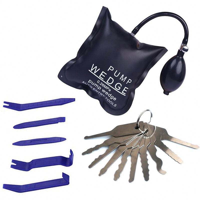 Air Wedge Pump Unlock Car Door Auto Locksmith Tool 10Pcs Jiggler Keys Lock Pick Durable Plastic Assembly And Disassembly Tools