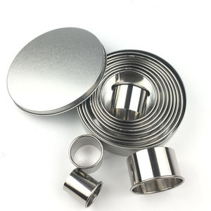 Round Cookie Biscuit Cutter 12Pcs Set Dessert mousse cake donut Ring Cutter Tool 304 Stainless Steel Metal Baking Molds