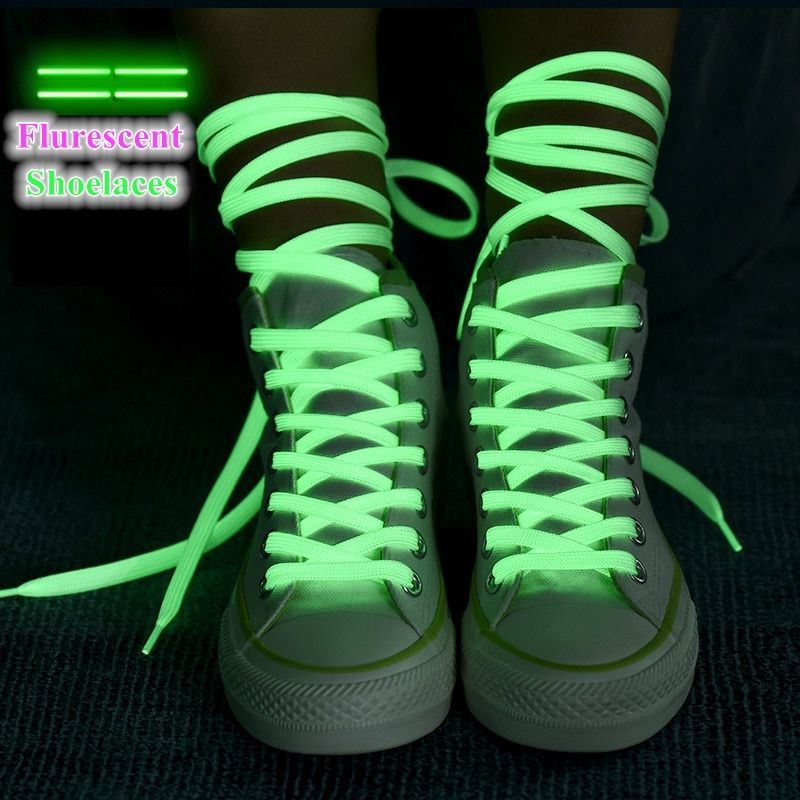 Flat Sneakers Luminous Shoelaces Canvas Shoe Laces With Glowing In The Dark Colorful Fluorescent Shoelace With 80/100/120/140CM