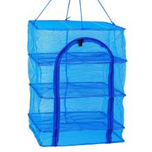 Rectangle multi-function Durable Moistureproof Strong Foldable Hanging Fishing Net Trap Drying Fish Cage For Outdoor Activities