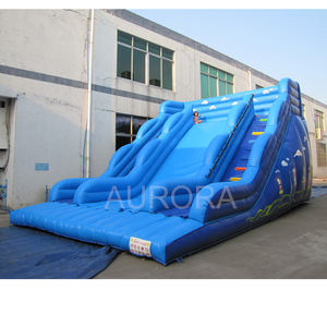 Komersial Seluncuran Raksasa Inflatable Slide Air Komersial Slide