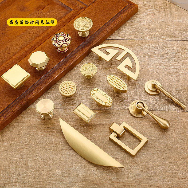 Knob Gold Cupboard Interior Pull Window Door Round Copper Brass Furniture Wardrobe Drawer Kitchen Cabinet Handles and Knobs