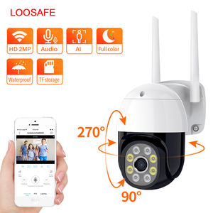 LOOSAFE Wifi IP Camera Out door Night Vision Ptz Cctv Wireless Network 1080P Hd
