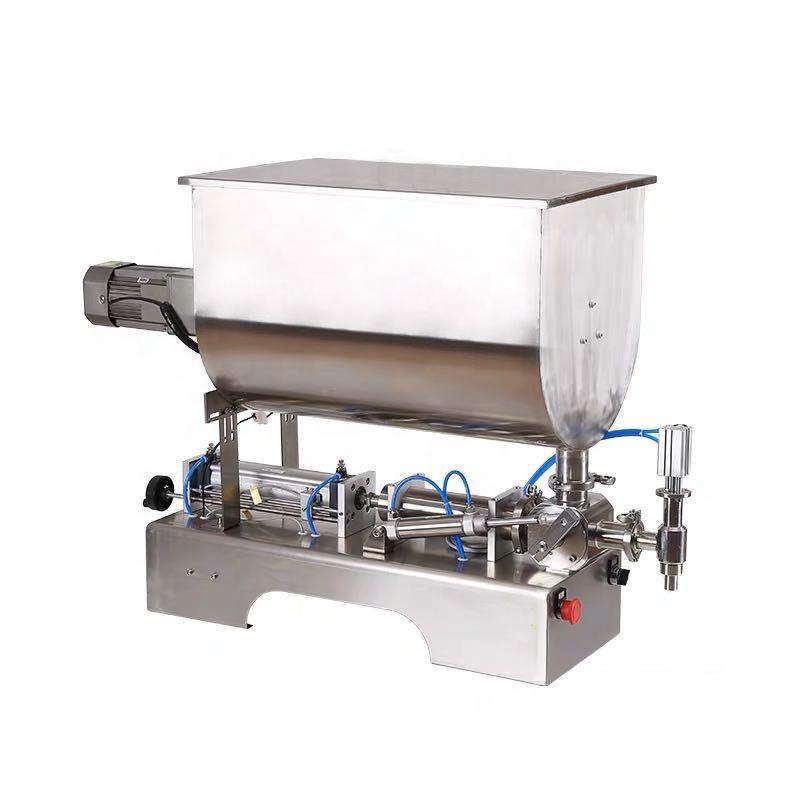semi automatic Vertical Piston cosmetic Cream filler/pneumatic tomato paste filling machine