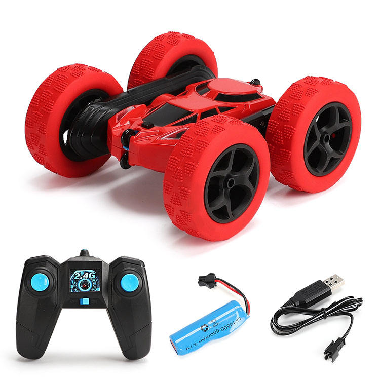 2.4GHZ 1:16Remote control car double-sided stunt car 360 rotating with light