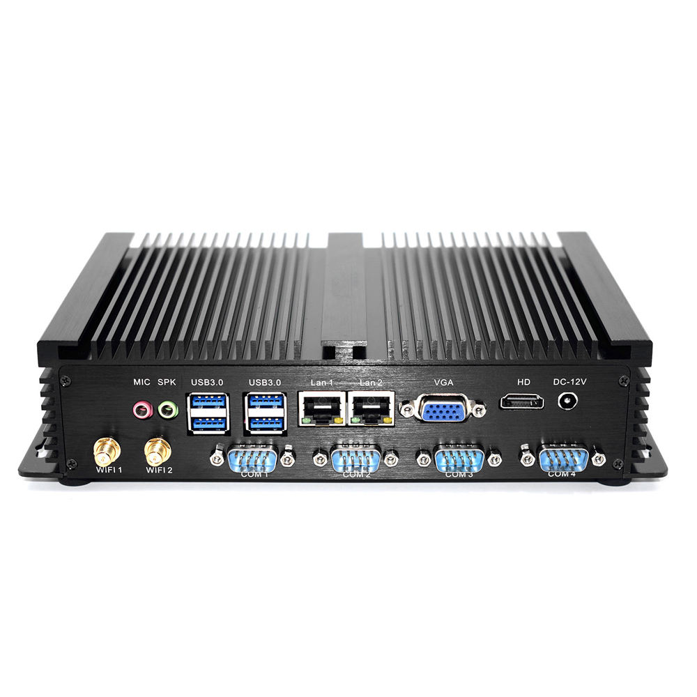 Dual LAN Fanless Industrial Mini PC Window XP Intel NUC Celeron 1007U HD Micro Computer Pfsense 4G RAM 128G SSD WiFi For Factory