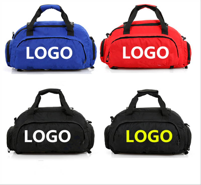 Customized Logo Fashion Duffel Bag Fitness Outdoor Sports Gym Bag with Wet Pocket & Shoes Compartment Travel Duffel Bag