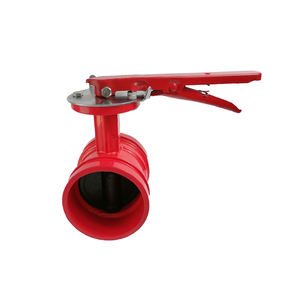 DN50-200 cast iron handle type fire fighting valves grooved butterfly valve