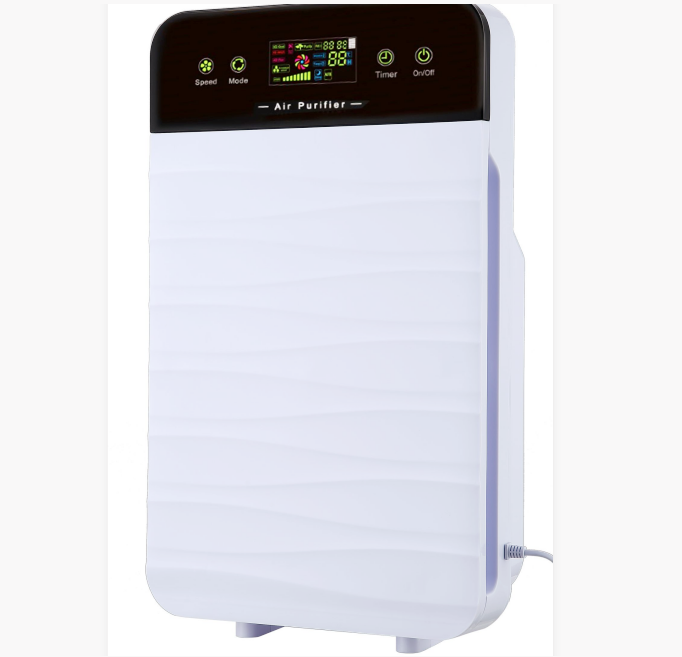 three air quality monitors Pm2.5 low noise air purifier
