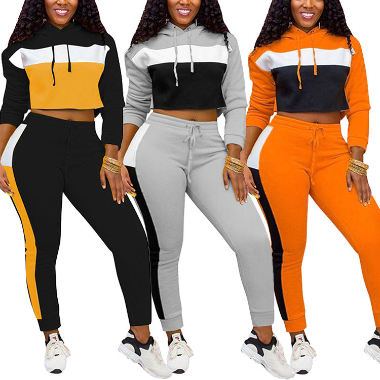 Long Hoodie Sweater Jogging Sport Wear Velour Tracksuit Women Bulk Wholesale Tracksuit