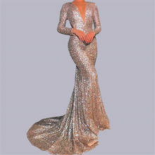 Ms formal evening dress fashion luxury sequined dresses2020