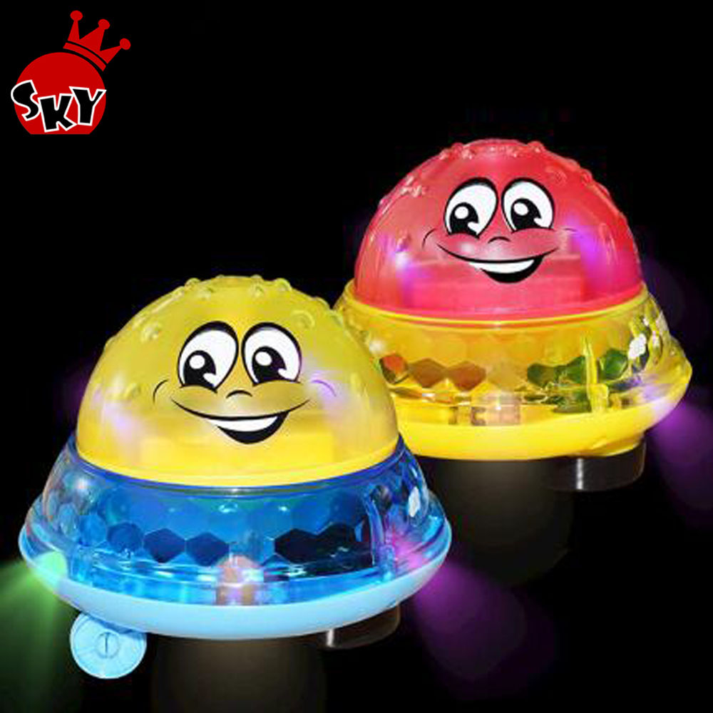 Cute Water Spraying Ball Baby Floating Bath Toy Electric Induction Sprinkler Bathtub Toys Rotating with Shower Light Musical Toy