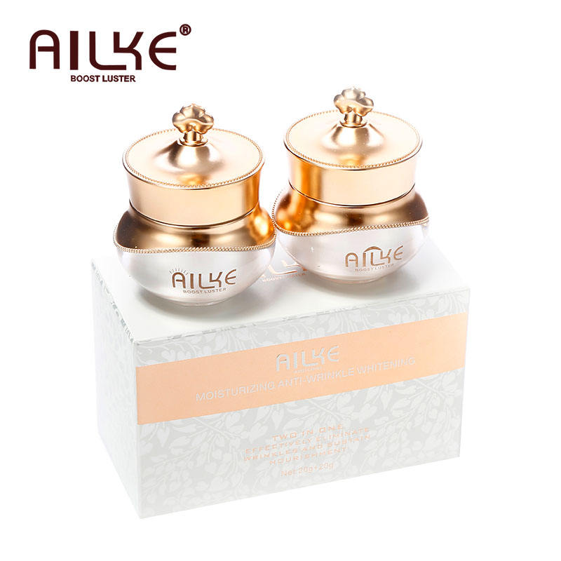 AILKE 2 In 1 Anti-Wrinkle Bright Whitening Skin Care Set With Day And Night Cream pimples dark spot remover cream