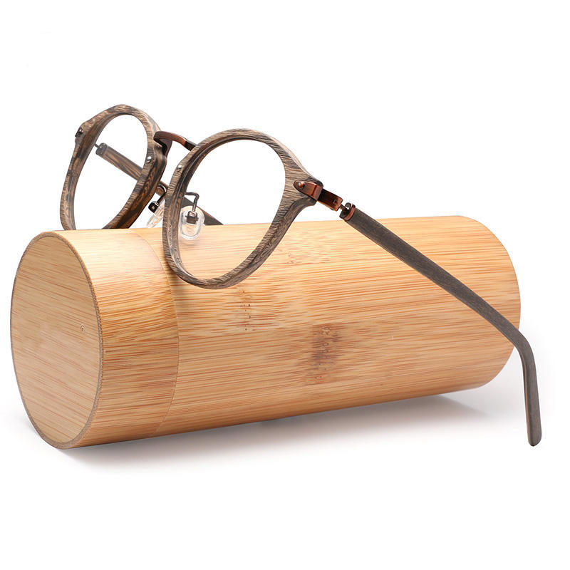 Acetate Prescription Eyeglasses Frames For Men and Women Wood Grain Optical Glasses Frame with Clear Lens