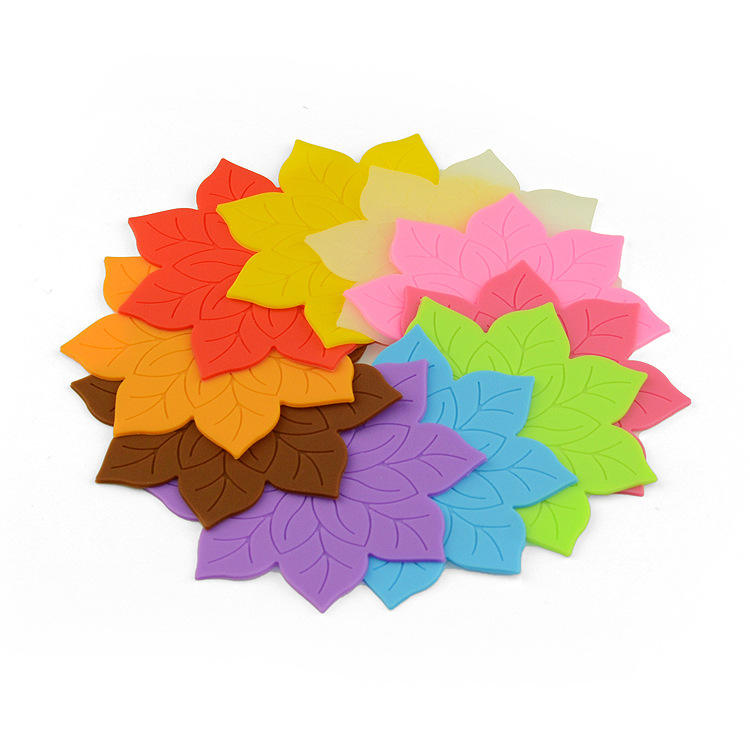 Fashion Lotus Flower Shape Silicone Cup Bowl Pad Bowl Non Slip Heat Resistant Table Mat