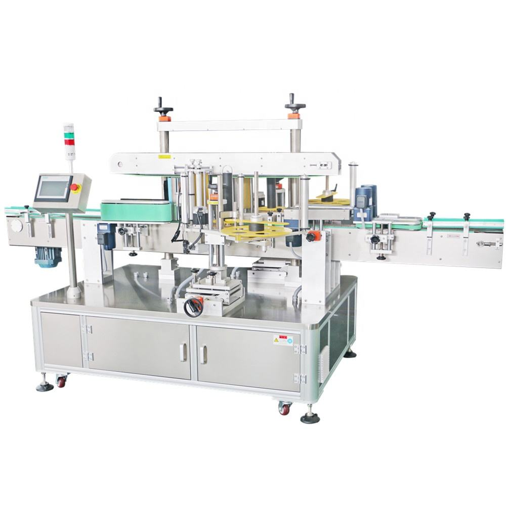 Automatic 2 sticker front back labeling machine for round and square bottle