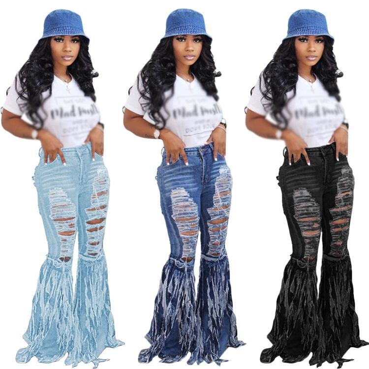 New season design fall autumn custom denim ladies two piece long set