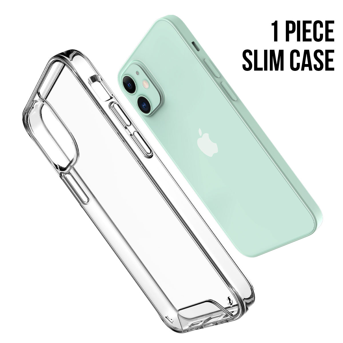 Mettallic Button AirJacket Clear Shock Absorption Mobile Phone Case for iphone 12 Pro Max