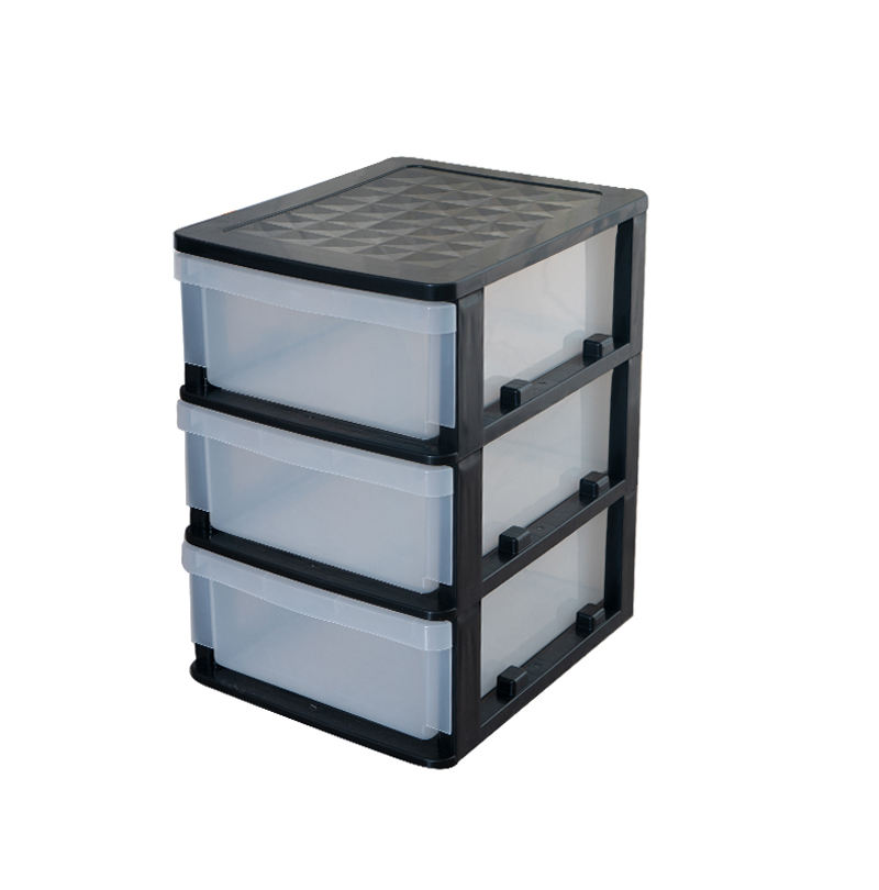 3 Layers Eco-friendly Transparent Drawer Box Plastic Drawer Storage Cabinet Dust-Proof