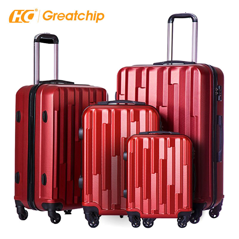 ABS 360 Rolling Hard Case Travelling Bags Suitcase Sets 3個Hardshell Trolley Luggageホイール
