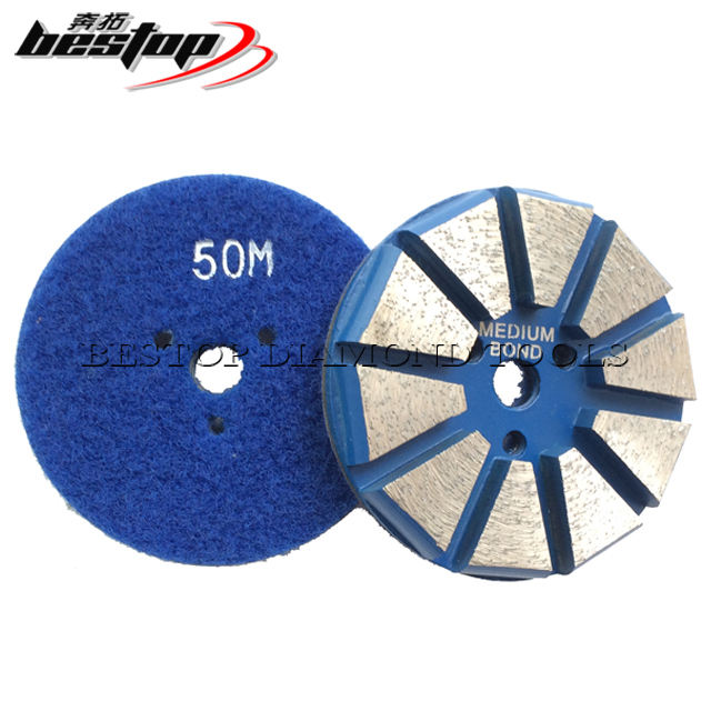 "3"" Hook and Loop Backing Concrete Floor Diamond Grinding Disc"