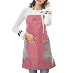 Free Shipping Adjustable Kitchen Apron High-grade fabric Abrasion hand cooking kitchen oil-proof gown direct waterproof apron