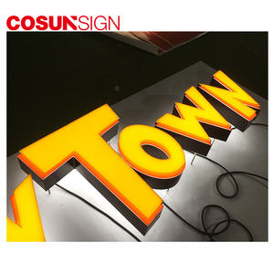 2019 Cosun Vacuümvormen 3D Plastic Acryl Box Up Brief Led Reclame Display Hotel Borden